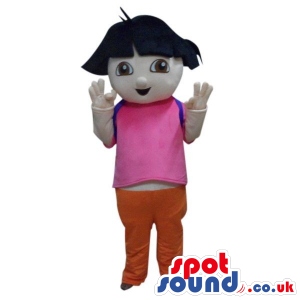 Popular Dora The Explorer Cartoon Character Mascot - Custom