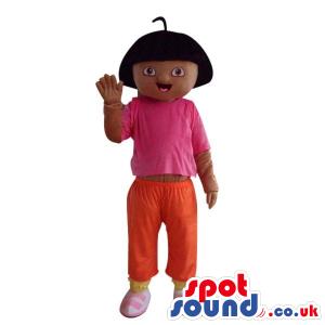 Dark Popular Dora The Explorer Cartoon Character Mascot -