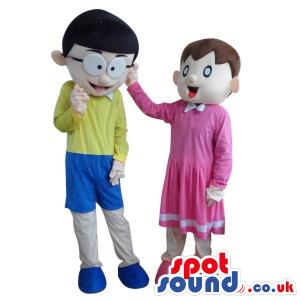 Doraemon Cartoon Couple Plush Mascot: Shizuka And Nobita -