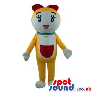 Popular Doraemon Cartoon Character Yellow Cat Plush Mascot -