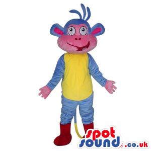 Dora The Explorer Blue Monkey Cartoon Character Masco - Custom