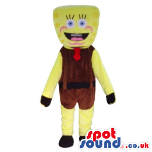 Tall Sponge Bob Square Pants Starfish Character Plush Mascot -