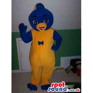 Cute Yellow And Blue Fantasy Penguin Plush Mascot - Custom