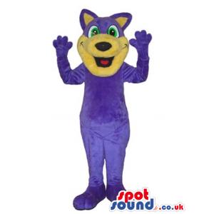 Flashy Purple Fantasy Dragon Plush Mascot With A Funny Face -
