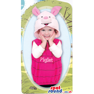 Cute Winnie The Pooh Piglet Character Baby Size Plush Costume -