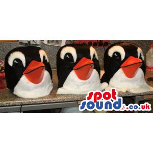 Customizable Three Penguin Animal Plush Mascot Heads - Custom