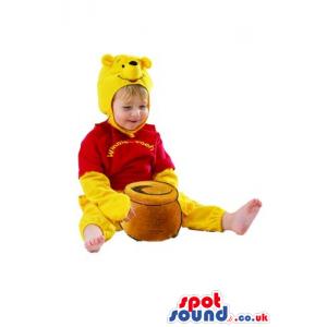 Winnie The Pooh Flashy Children Size Plush Costume - Custom