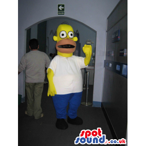 Popular The Simpsons Homer Mascot In His Classic Garments -