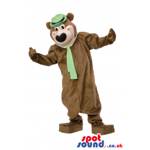 Popular Cartoon Bear Character: Yogi Bear With Green Hat And