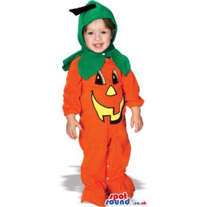 Cute Halloween Pumpkin Jack-O-Lantern Baby Size Costume -