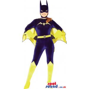 Batwoman Superhero Adult Size Costume In Purple Velvet Garments