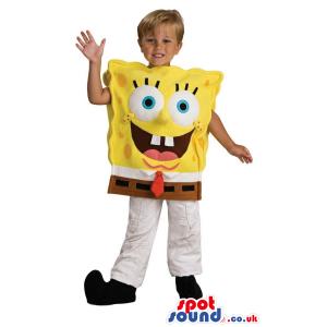 Sponge Bob Cartoon Character Children Size Costume - Custom