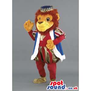 Standing lion mascot dress as the king of the jungle - Custom