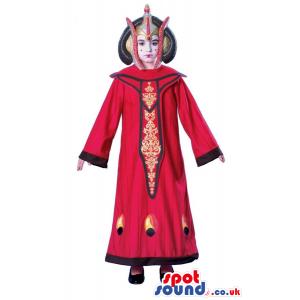 Amazing Red Thailand Dressed Girl Children Size Costume -