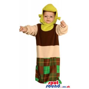 Green Shrek The Ogre Movie Character Baby Size Costume - Custom