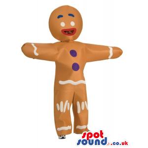 Gingy Shrek Movie Character Adult Size Plush Costume Or Masco -