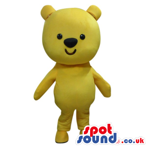 Cute Small Yellow Teddy Bear Mascot With A Simple Design -
