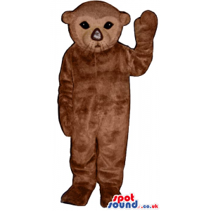 Brown Young Seal Plush Mascot With A Cute Face And Nose -