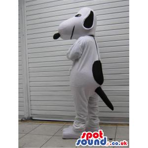White And Black Dog Plush Mascot Alike Snoopy Cartoon Character