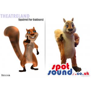 Customizable Squirrel 3D Design And Plush Mascot - Custom