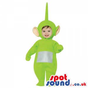Green Teletubbies Character Baby Size Plush Costume - Custom