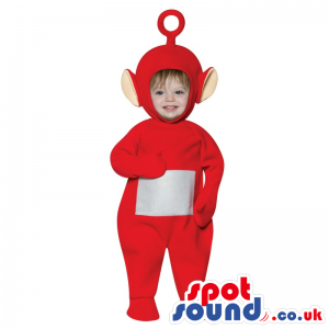 Cute Red Teletubbies Character Baby Size Plush Costume - Custom