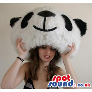 High-Quality Comfortable Big Panda Bear Hairy Mascot Head -