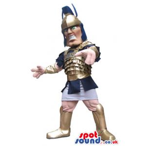 Customizable Human Mascot Wearing An Ancient Roman Armor -