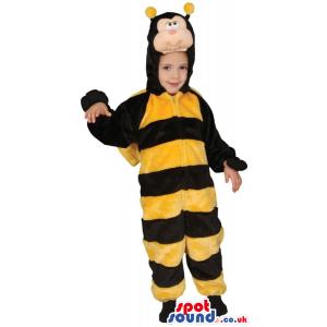 Big Striped Garden Bee Children Size Plush Costume - Custom