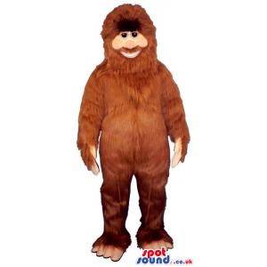 Amazing Human-Like All Brown Ape Animal Plush Mascot - Custom