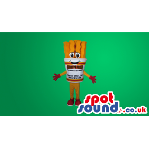 Funny French Fries Box Mascot With Text - Custom Mascots