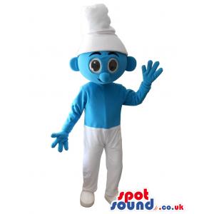 Blue And White Smurf Plush Mascot - Custom Mascots