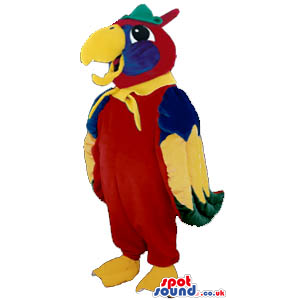 Red And Yellow Parrot Plush Mascot - Custom Mascots