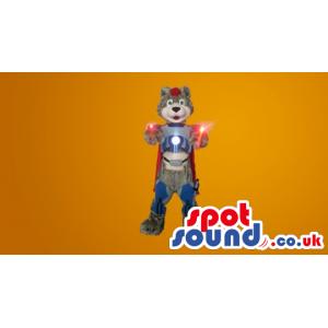 Magical Super Bear Mascot With Colourful Clothes - Custom