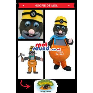 Coal Mine Worker Mole Plus Mascot - Custom Mascots