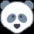 Mascot of pandas