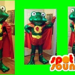 Mascotte du jour chez SPOTSOUND: Mascotte super grenouille verte et son habit rouge et jaune . Découvrez les mascottes @spotsound_mascots #mascotte #mascottes #marketing #costume #spotsound #personalisé #streetmarketing #guerillamarketing #publicité . Lien: https://www.spotsound.fr/fr/2691-mascotte-super-grenouille-verte-et-son-habit-rouge-et-jaune.html